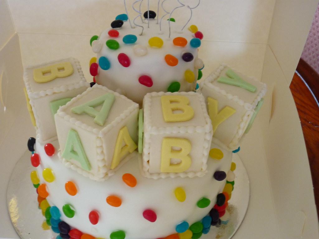 Cake Recipe Jelly Beans: Jelly Bean Themed Baby Shower Cake