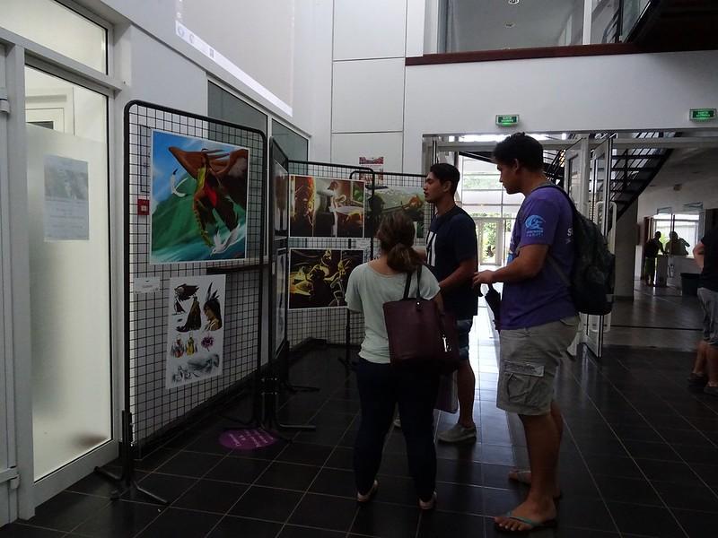 Vernissage de l'exposition des Dessinateurs du Fenua