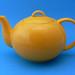 Vintage Sunshine Yellow Ceramic Teapot