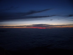 Sunrise at the summit-Mt Fuji