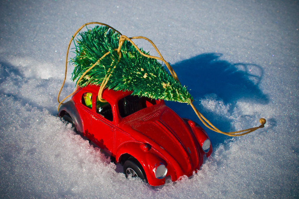 A Punch Buggy Red Christmas | An old TootsieToy VW Beetle ...