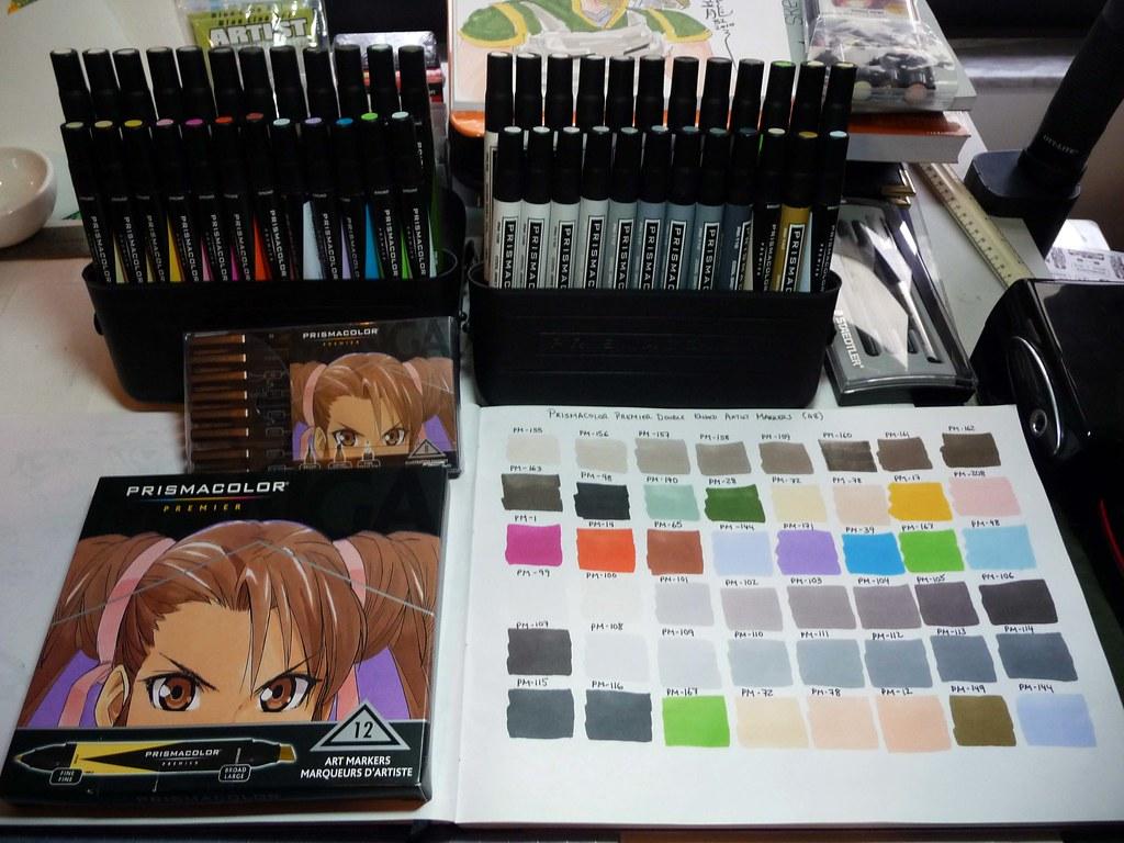 Prismacolor Premier Double Ended Art Markers Set Of 48 Wit