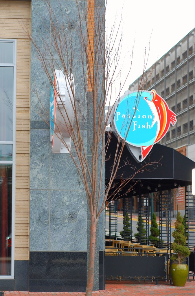 Passion fish sign and exterior reston town center flickr for Passion fish reston
