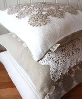 Linen and Lace Pillow Covers | by tuuni