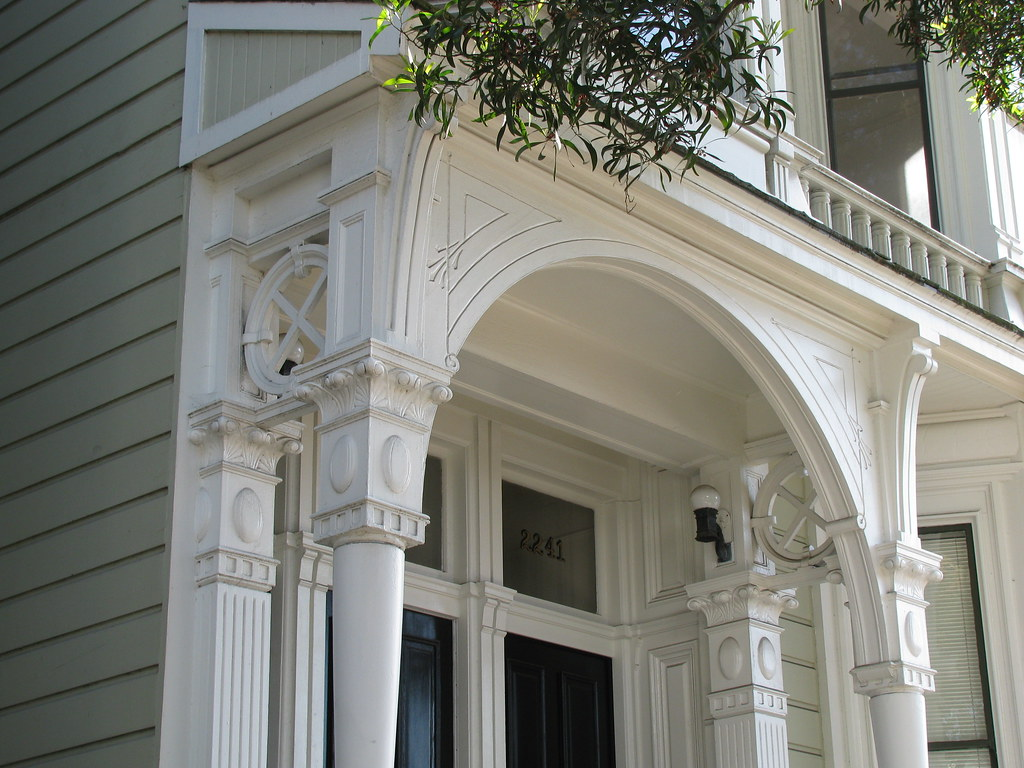 Victorian porch woodwork oak st san francisco flickr for Victorian woodwork