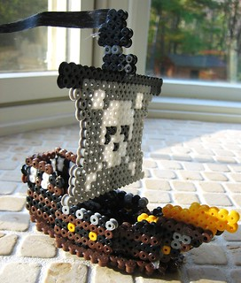 3-D Perler Bead Pirate Ship | by Kid's Birthday Parties