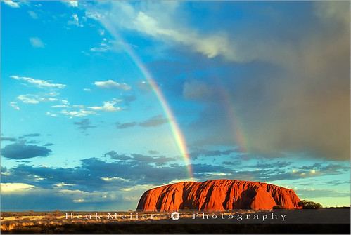 Rainbow hits Ayers Rock - Australia | by ~ Floydian ~ 