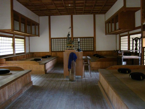 Zazen meditation room untoan a zen buddhist temple in for Zen meditation room