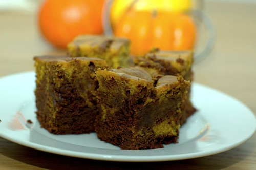 pumpkin swirl brownies | by sassyradish