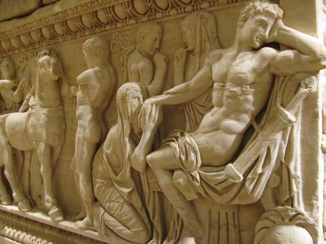 Priam Kneeling Before Achilles Second Sarcophagus Priam