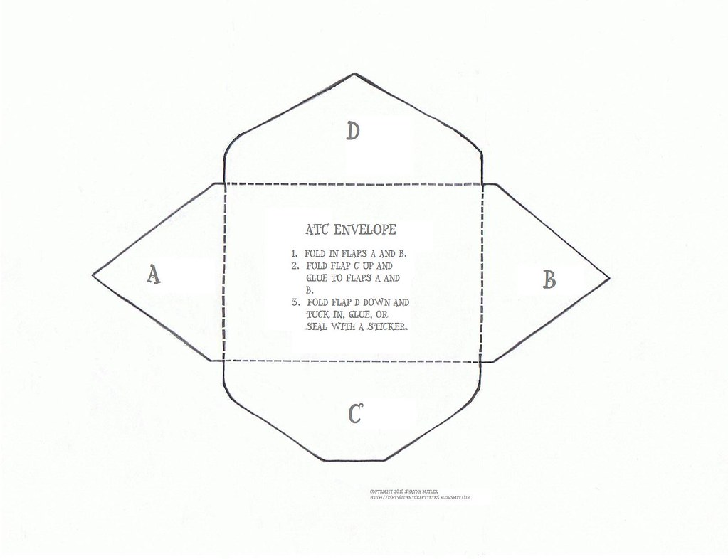 ATC envelope template | Couldn\'t find a template that opened… | Flickr