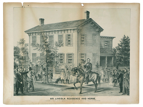 Mr. Lincoln, Residence and Horse As They Appeared On His Return from the Campaign with Senator Douglas. | by The Henry Ford