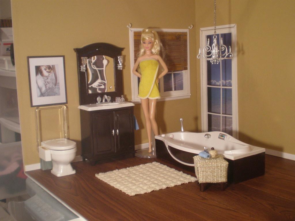 Barbie Bathroom   by Missypants Barbie Bathroom   by Missypants. Barbie Bathroom   This set is a one of a kind Gloria set tha    Flickr
