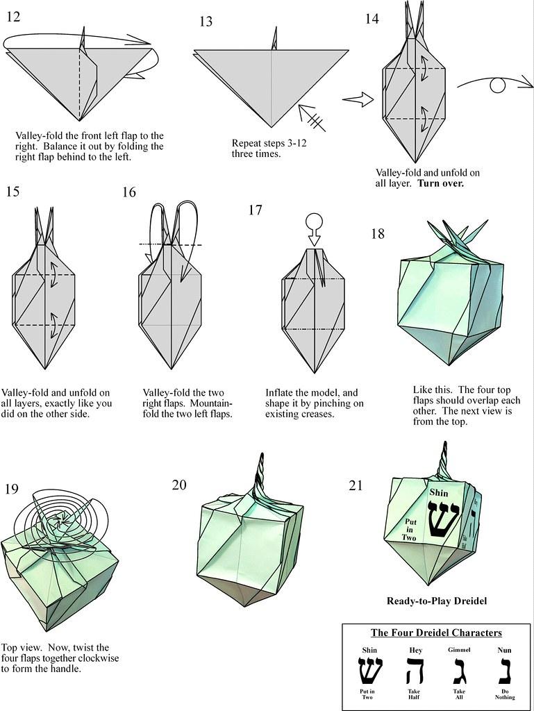dreidel2 dreidel page 2 jeremy shafer flickr rh flickr com Octahedron Origami Folding Diagrams Jeremy Shafer Origami Bat Diagrams