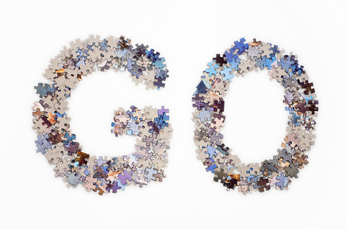 The Word Go Made From Jigsaw Puzzle Pieces The Word Go