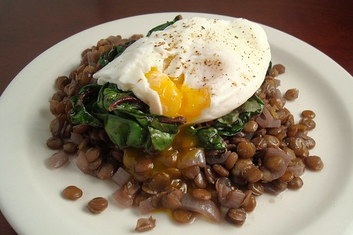 Braised Lentils with Swiss Chard and a Poached Egg | Flickr