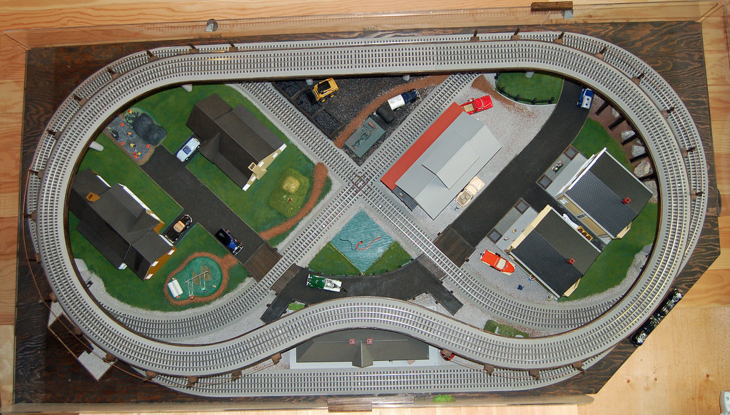 O Gauge Portable Train Layout Portable Compact 2 Level