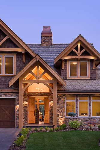 Mountain View Timber Frame Home  Exterior Entrance  Flickr