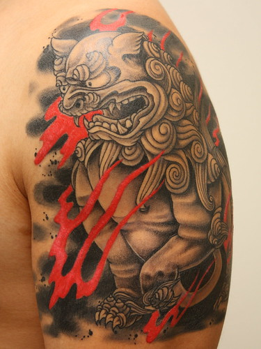 2010 01 17 003v2 shisa tattoo session ii brad nakamura flickr. Black Bedroom Furniture Sets. Home Design Ideas