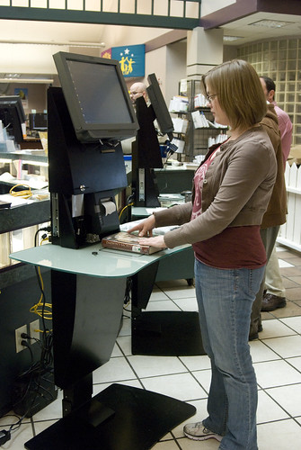 How do I use the new RFID checkouts? | by Huntsville Madison County Public Library