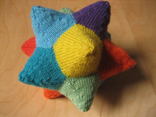 Rainbow dodecahedron | by bunnieprops