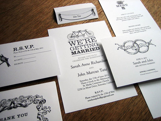 Black And White Printable Wedding Invitation Kit This Is P Flickr