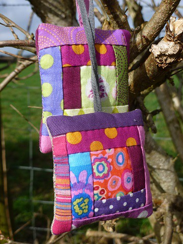 Patchwork key fob or just a very small lavender bag!