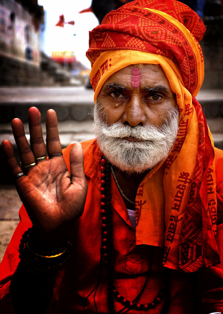A Vibrant Saddhu In Varanasi