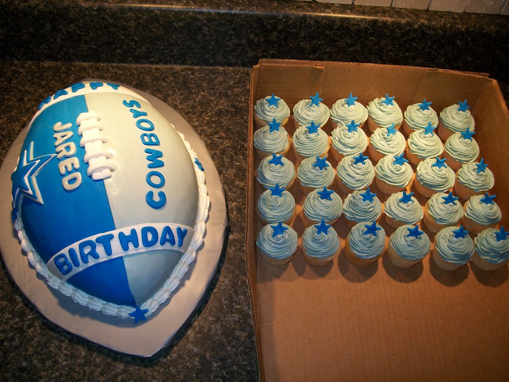 Dallas Cowboys Themed Baby Shower Cakes