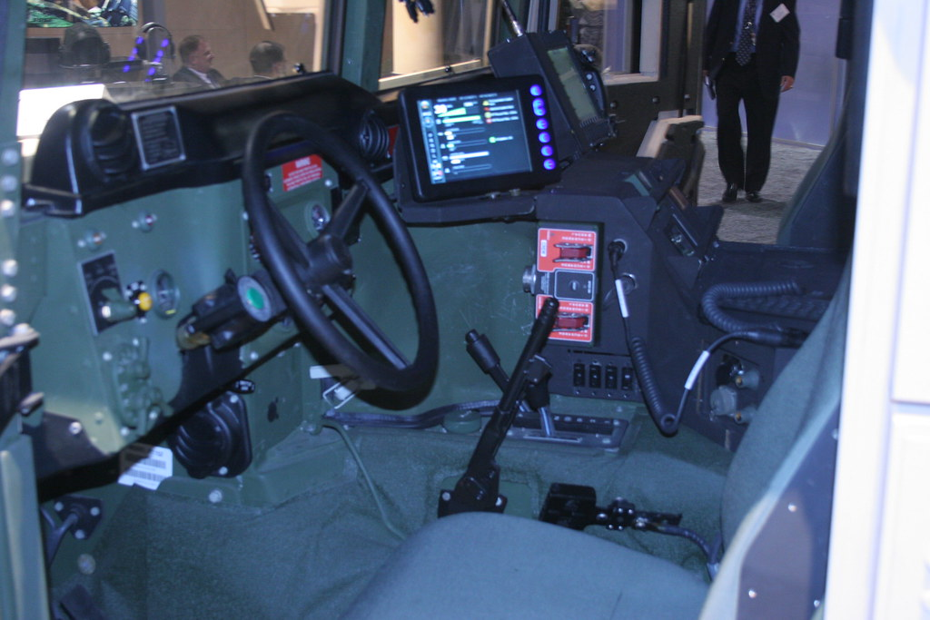 Humvee Interior Looks More Like An Airplance Cockpit