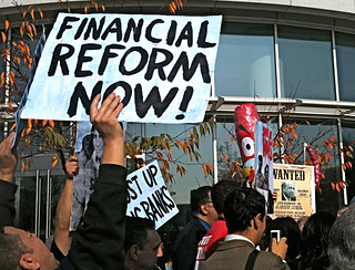 Goldman Sachs protest: Financial Reform Now! | by SEIU International