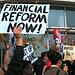 Goldman Sachs protest: Financial Reform Now!