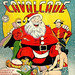 Comic Cavalcade #5 (Winter 1943) - Ginormous alien Santa speaks with DC heroes