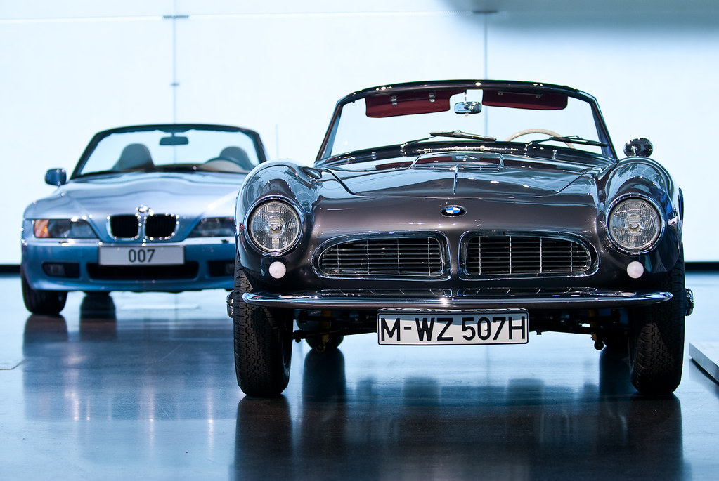 Bmw 507 The Legendary Bmw 507 In Front Of A Bmw Z3