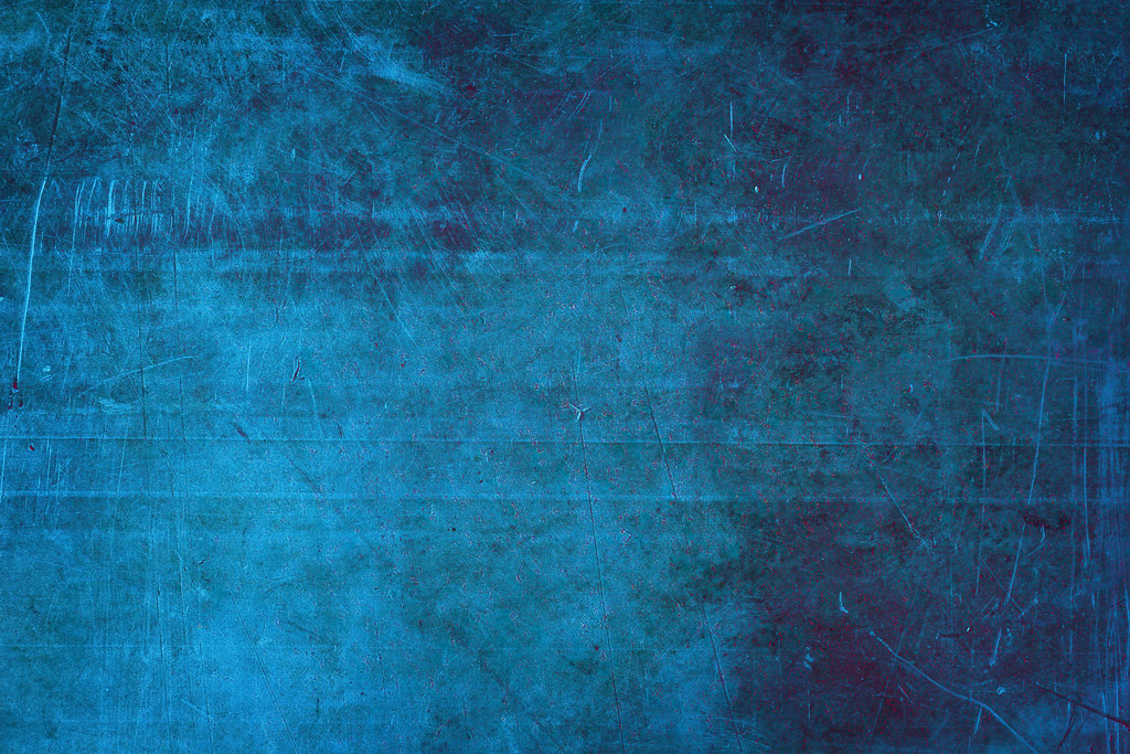 Grungy Blue Metal Abstract Background Of Grungy Blue