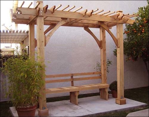 Red Cedar Breeze Pergola Bench Gazebo Creations Flickr
