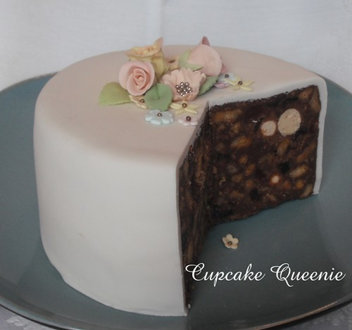 Iced Chocolate Biscuit Cake