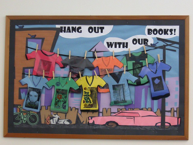 Classroom Bulletin Board Design For High School ~ Hang out with our books bulletin board this is
