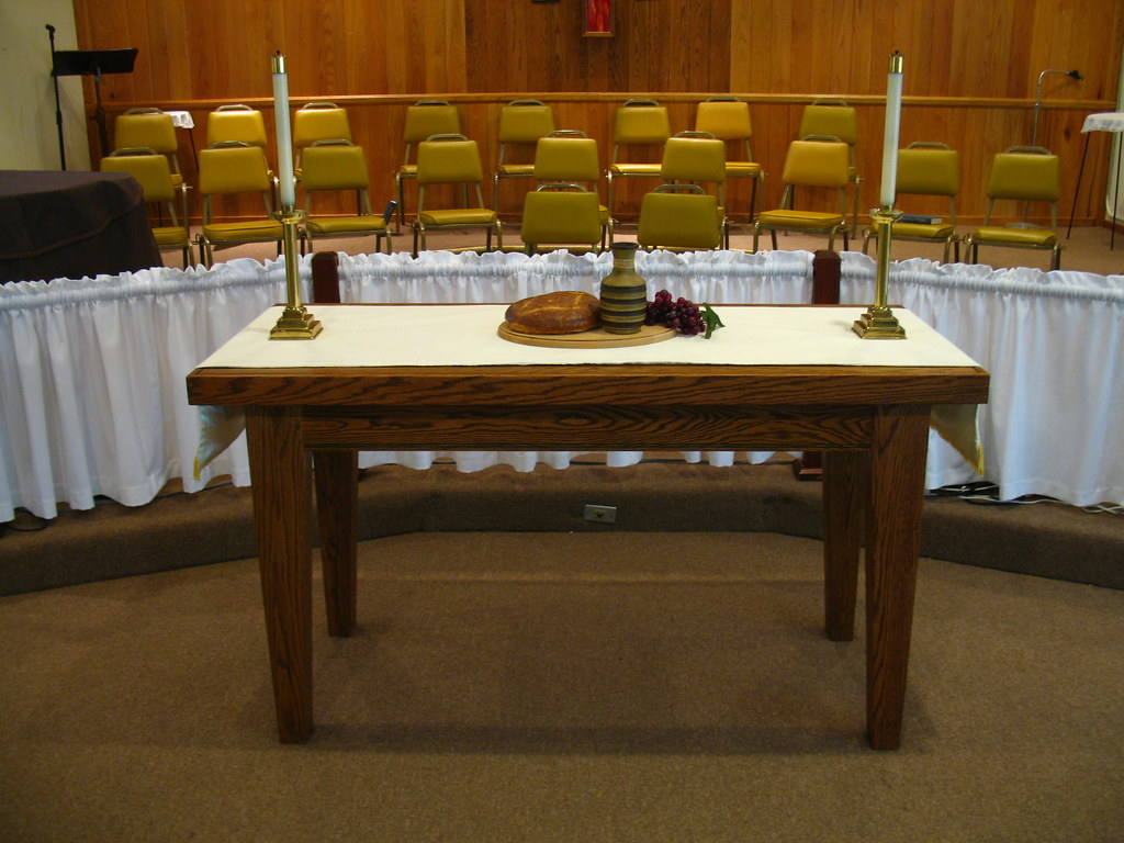 communion table | we used to have an altar. well, a great bi… | flickr