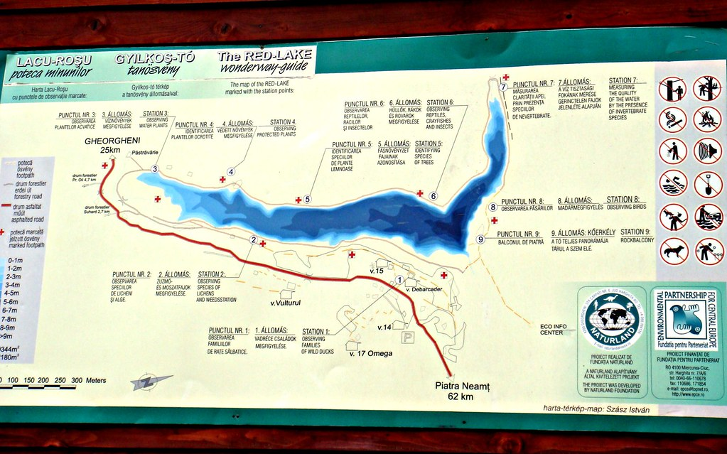 Red Lake Map Lacul Rosu The Red Lake Or Ghilcos Lake