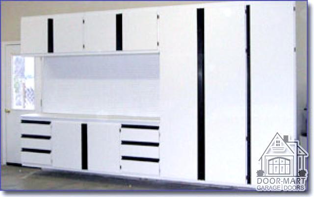 ... Melamine Storage Cabinets w/ workbench installed by Door-Mart | by DoorMartGarage  sc 1 st  Flickr & Melamine Storage Cabinets w/ workbench installed by Door-M\u2026 | Flickr