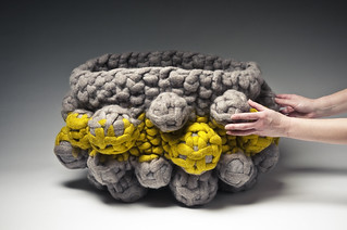 Vessel with hands for scale | by Modern Fiber Lab - Sonya Yong James