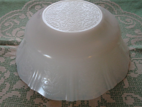 American Sweetheart Depression milkglass large serving bowl | by eg2006