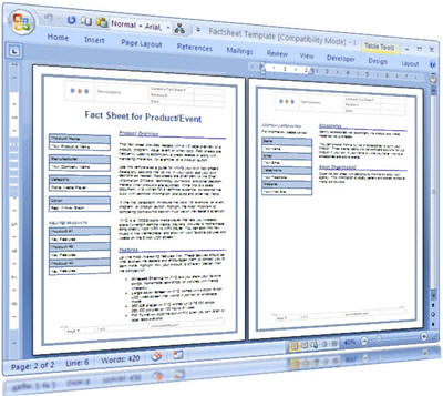 Fact Sheet Template For Technical Writers  These Ms Word Te  Flickr