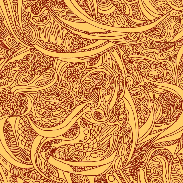 Dragon Pattern Drawn By Hand Click On All Sizes To
