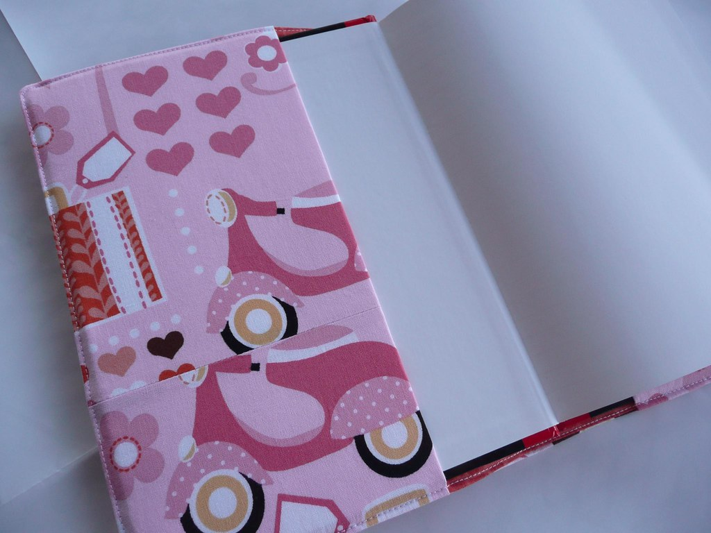 Fabric Notebook Cover : Fabric journal cover notebook tutorial unpicking is