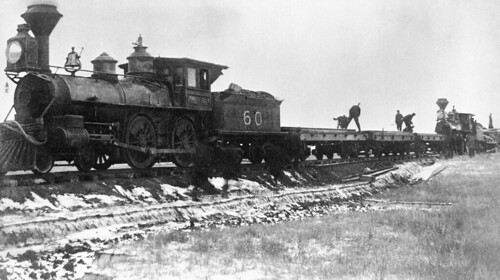 Two CPR Work Trains on Prairies | by glenbowmuseum