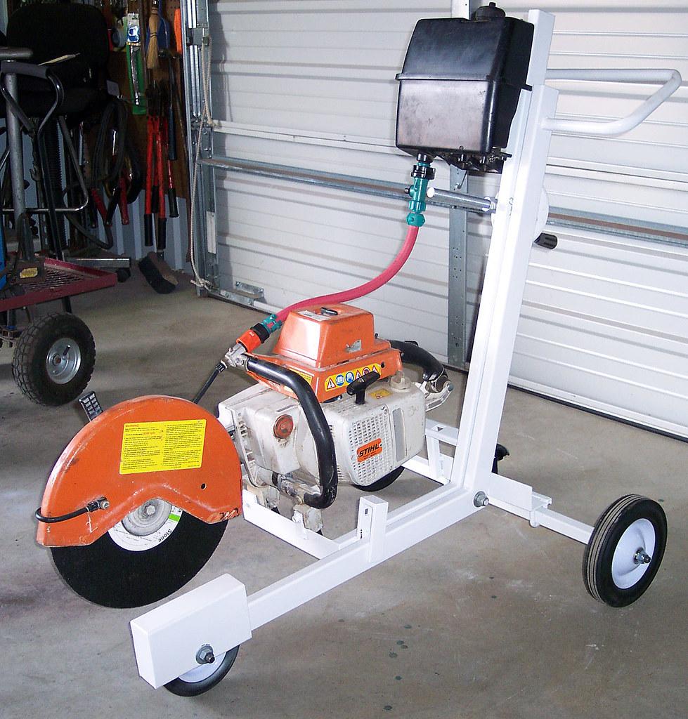 Chop Saw Cart With Wet Kit By B Davidson Stihl