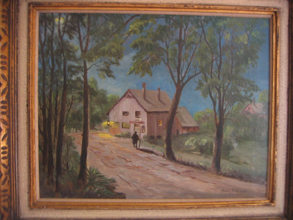 Best Oil Change >> Phil J Metzger oil painting I found at Goodwill | At first I… | Flickr