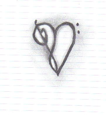 Treble bass clef heart isnt it cool i drew it in class for Treble and bass clef heart tattoo